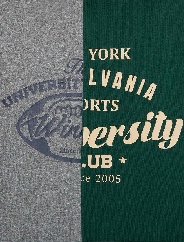 Sweat bicolore esprit campus