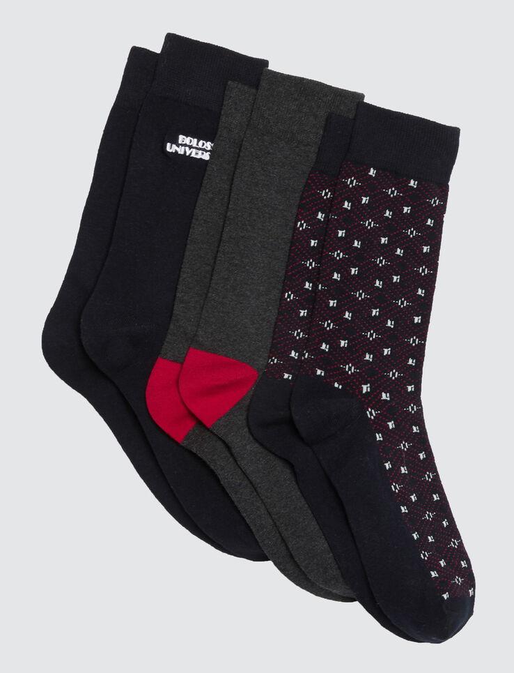 Lot de paires de chaussettes jacquard