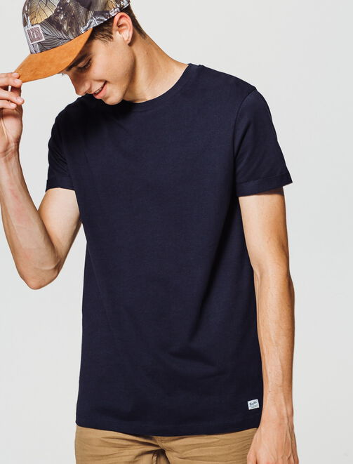 T-shirt uni coton manches courtes homme
