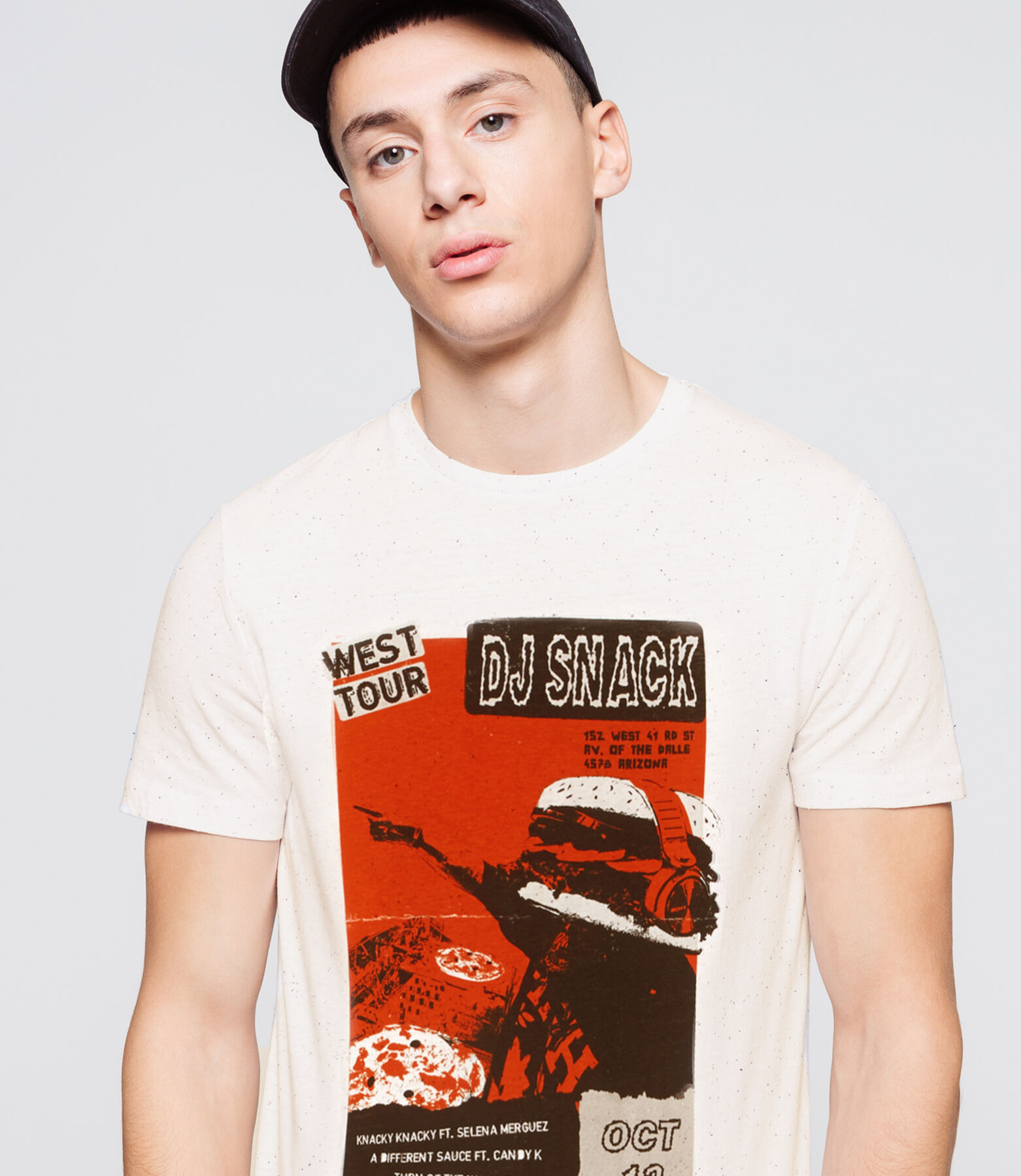 T-shirt injectée print affiche humour