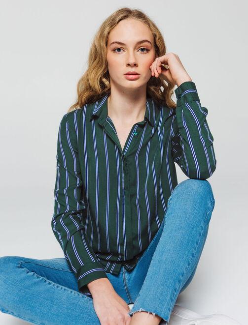 Chemise à rayures femme