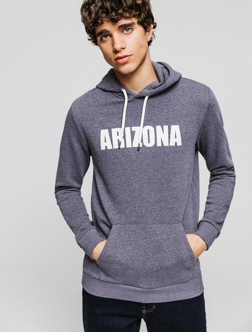 "Sweat enfilé mouliné wording ""ARIZONA"" homme"