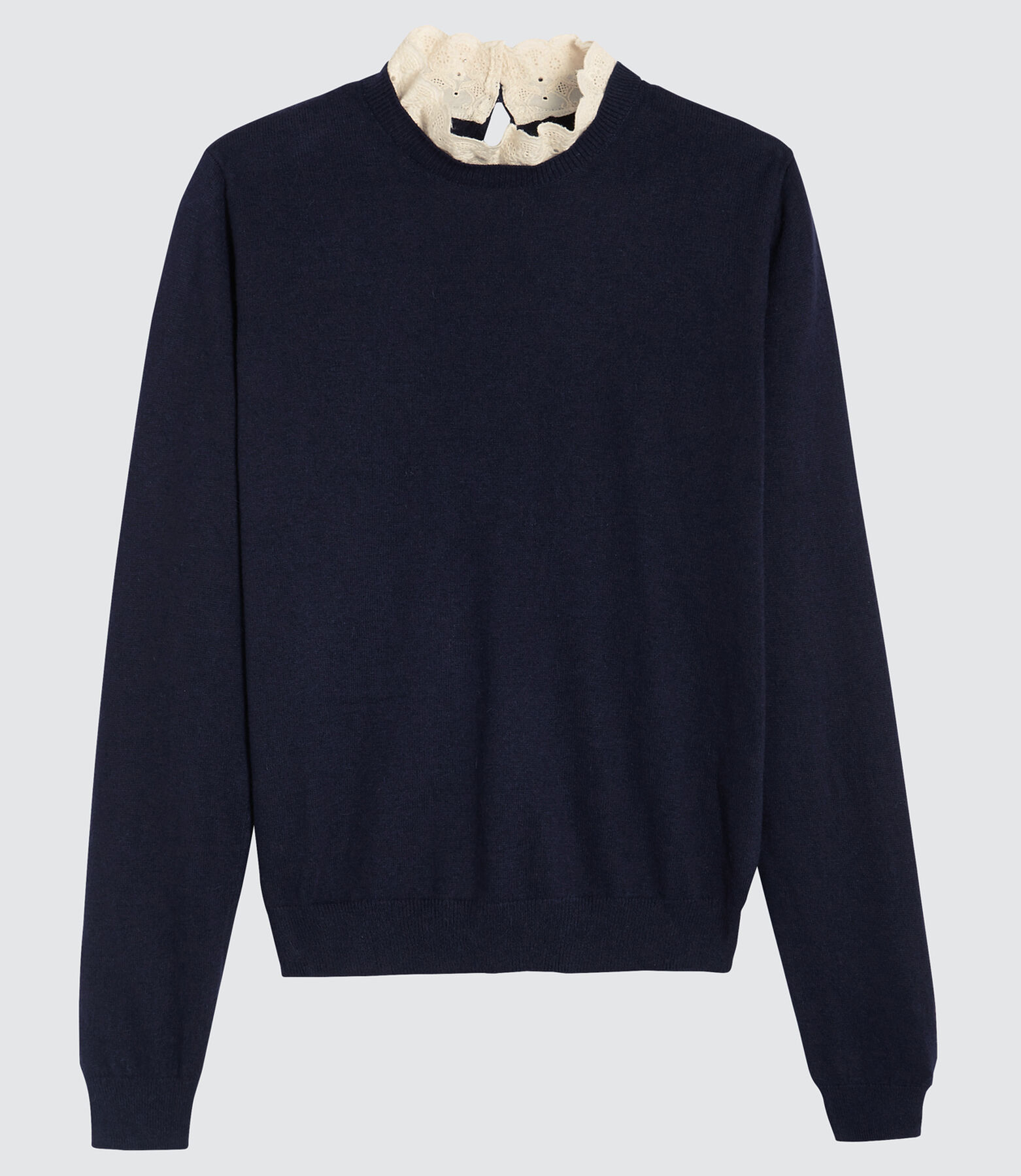 Pull col froufrou