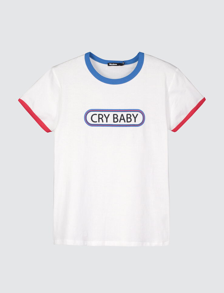 "T-shirt message ""CRY BABY"""