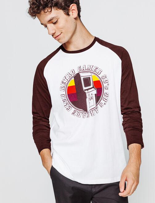 T-shirt raglan photoprint homme