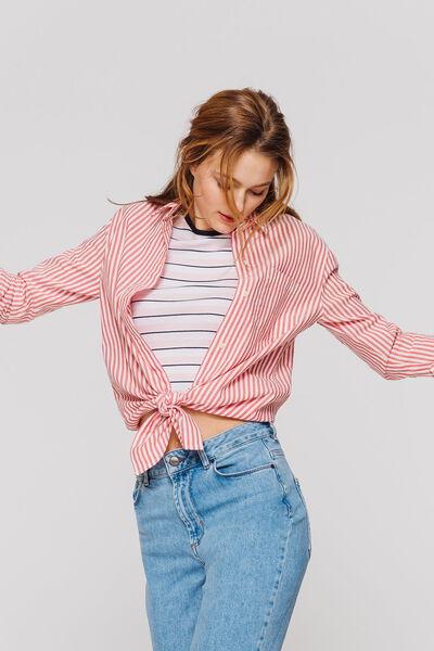Chemise rayée nouée
