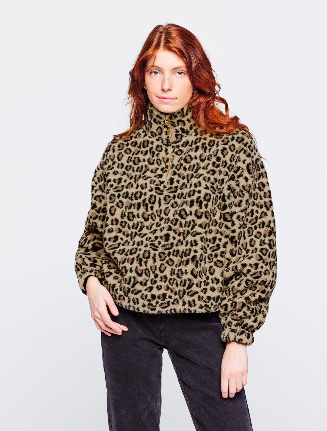Sweat sherpa leopard