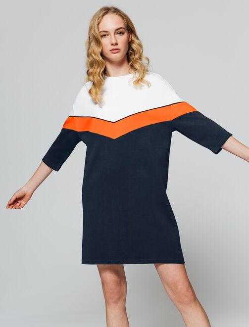 Robe sweat colorblock femme