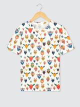 T-shirt en coton bio imprimé all over