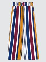 Pantalon large à rayures