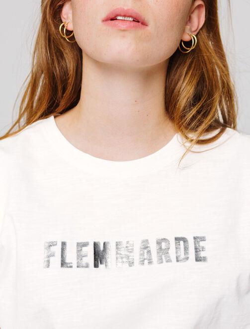 """T-shirt à message """" FLEMMARDE"""" femme"""