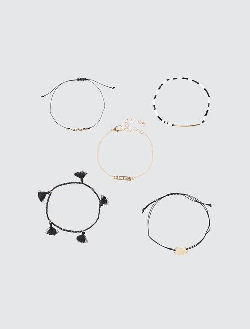 Set 5 Bracelets Chaton femme