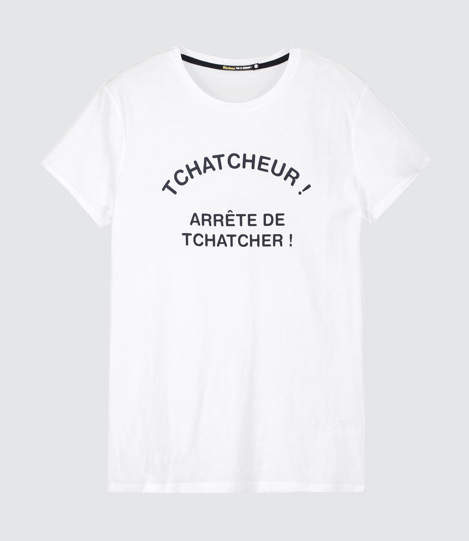 "T-shirt message ""Tchatcheur"""