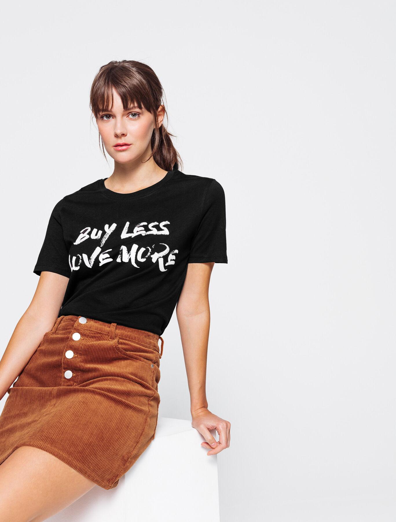 "T-shirt en coton bio ""buy less"""