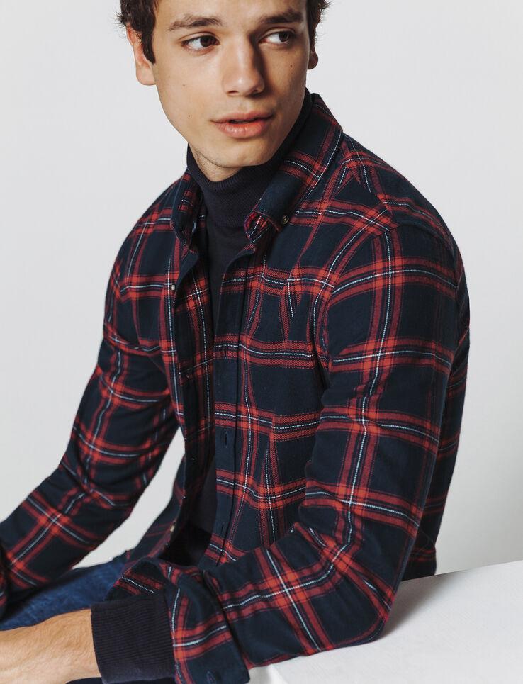 Chemise à carreaux tricolores