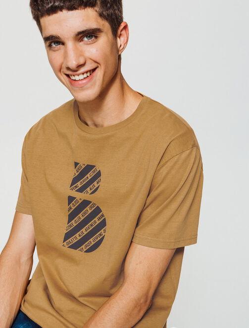 T-shirt imprimé logo humour homme