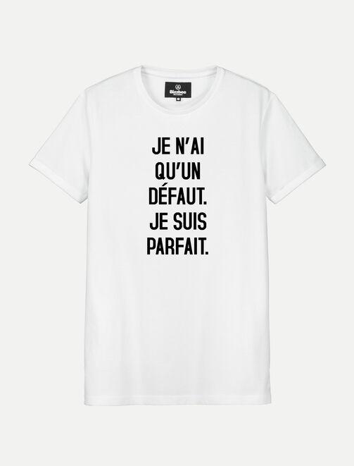 T-shirt blanc manches courtes PARFAIT homme