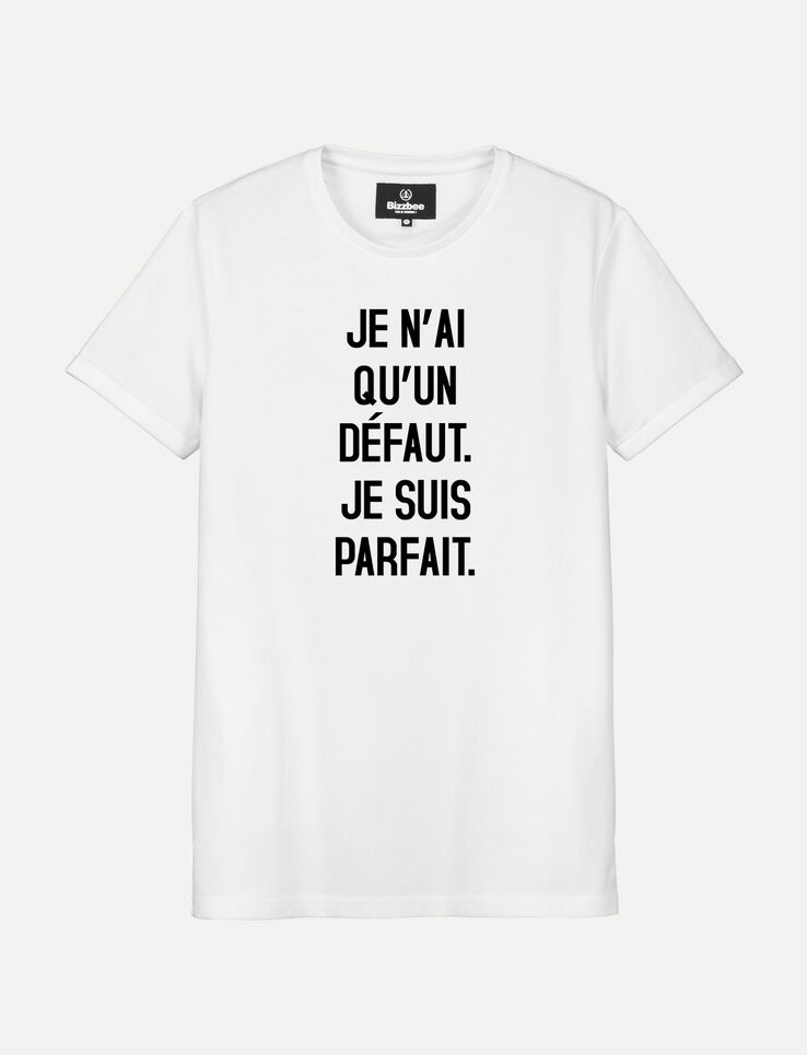 T-shirt blanc manches courtes PARFAIT