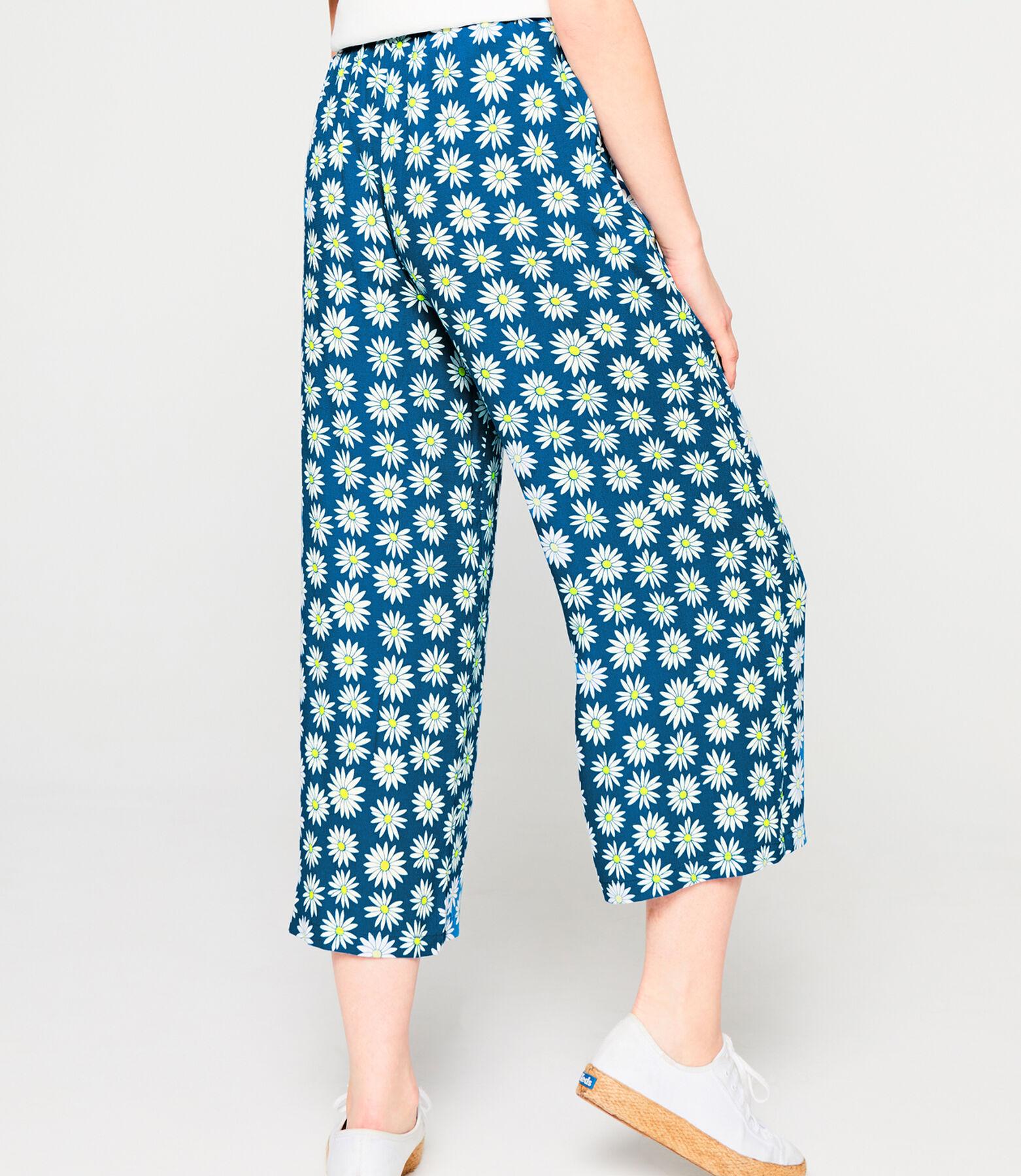 Pantalon Large Fluide Imprimé