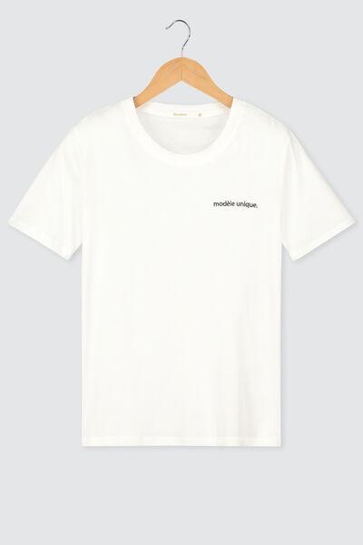 """T-shirt brodé """"Modèle unique"""""""