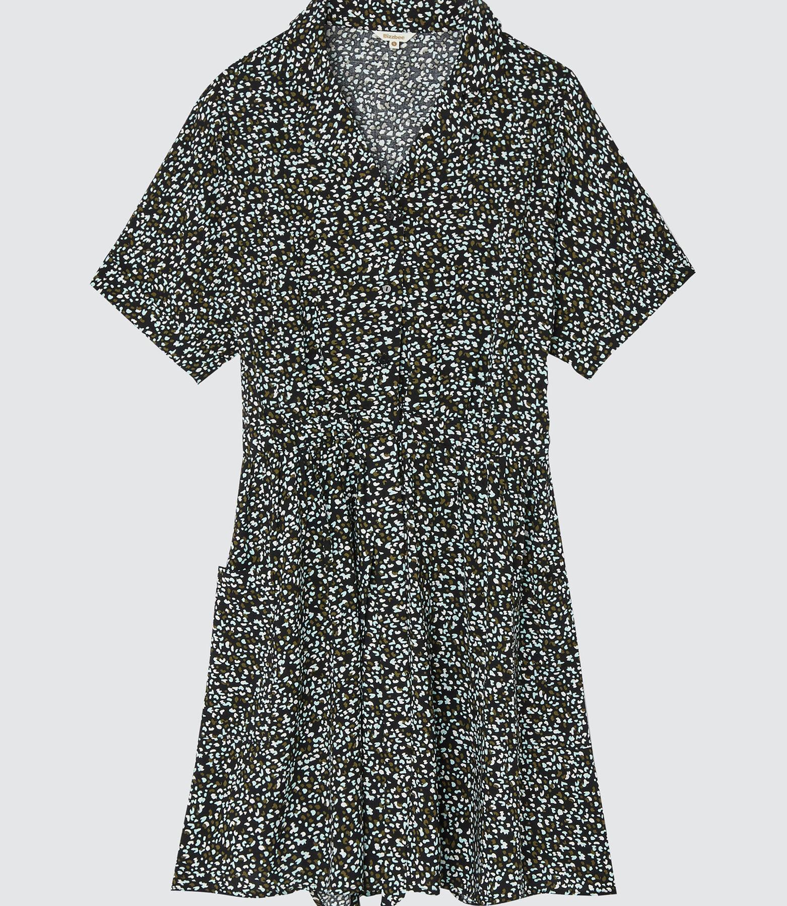 Robe courte ceinturée
