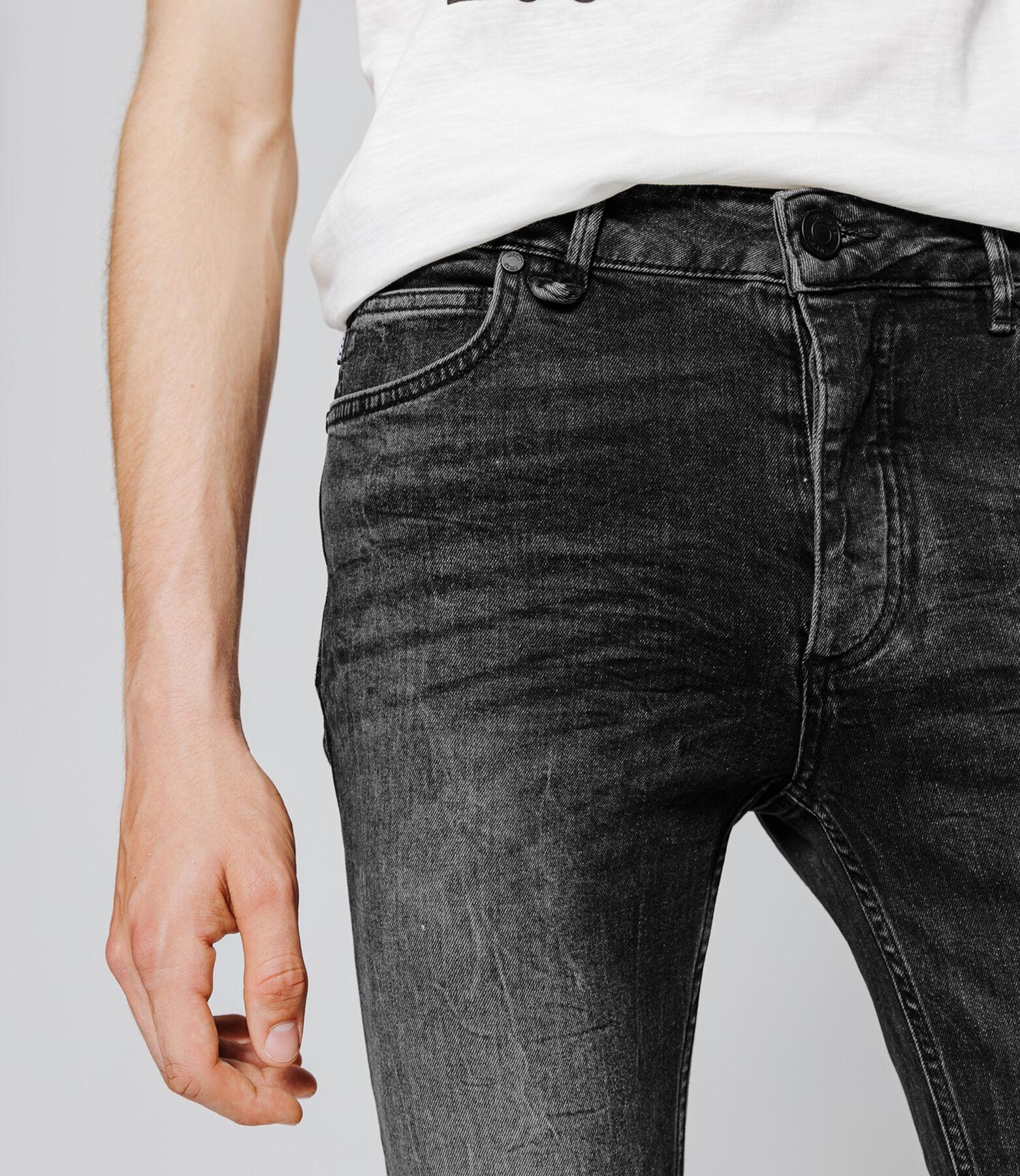 Jean skinny destroy noir
