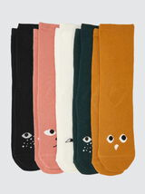 Lot*5 Chaussettes Animaux
