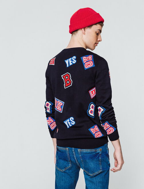 Pull message multi-logos homme