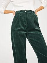Pantalon Slouchy Velours Coton Bio