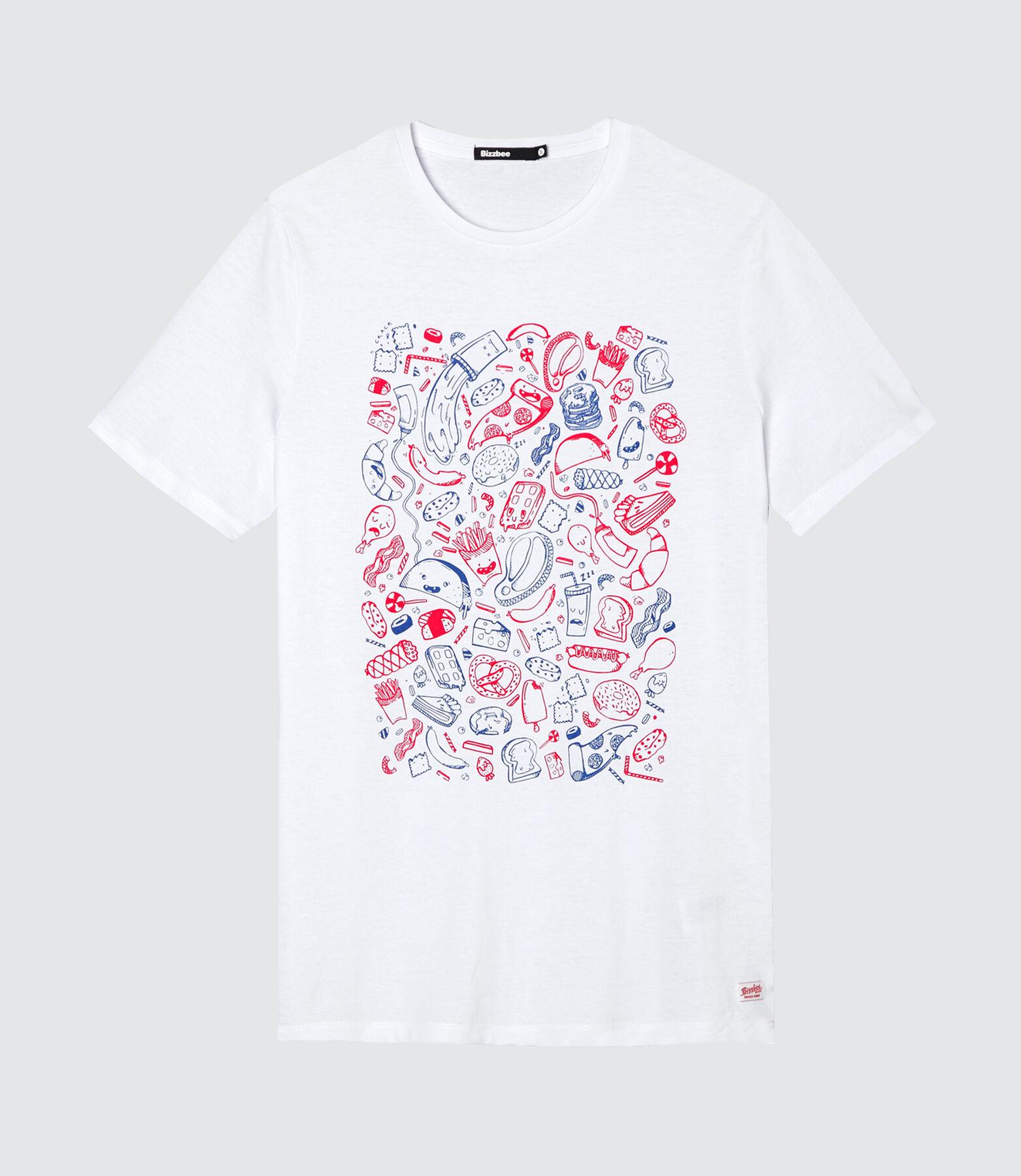 T-shirt print placé AOP