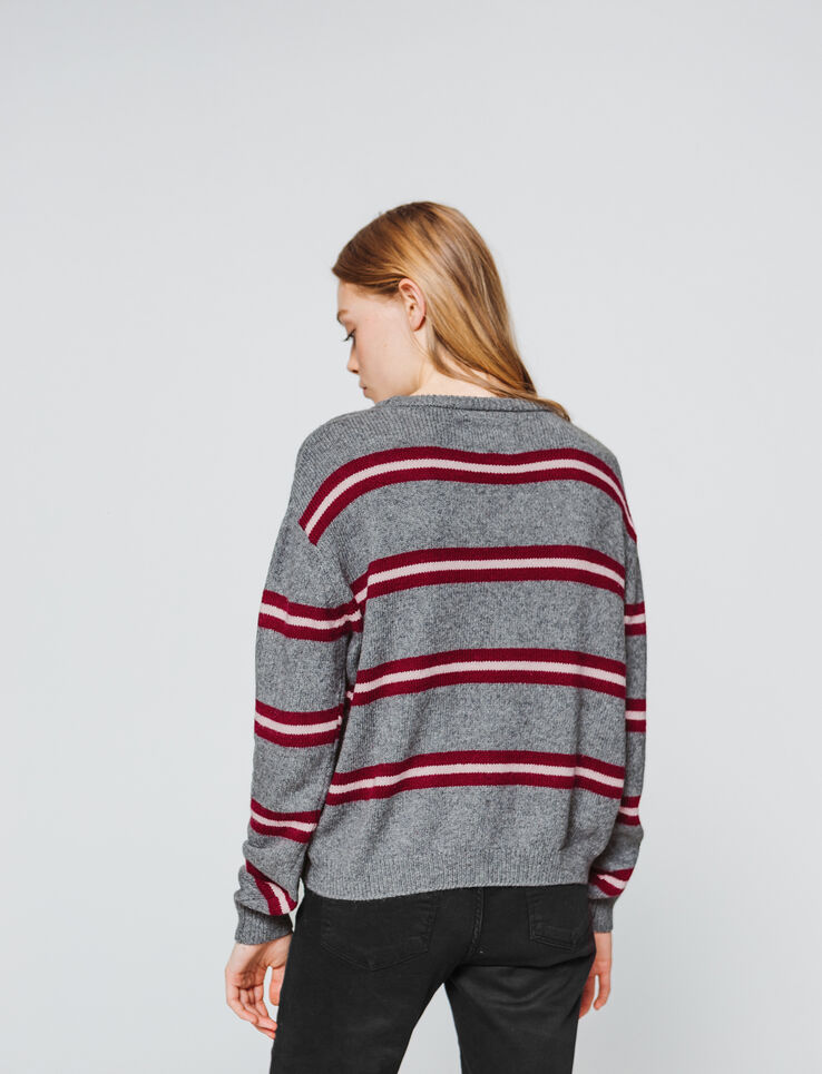 Pull boxy à rayures