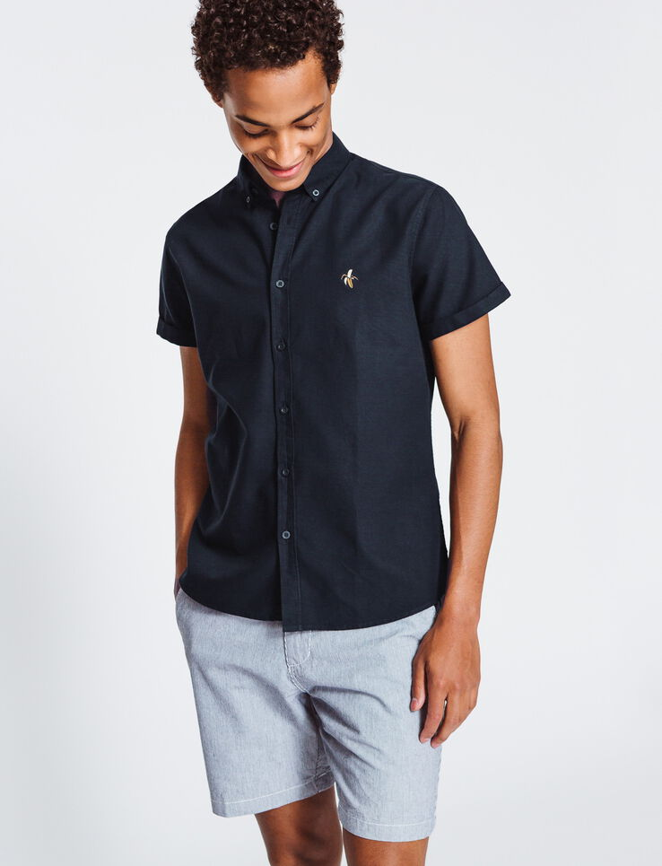 Chemise manches courtes oxford