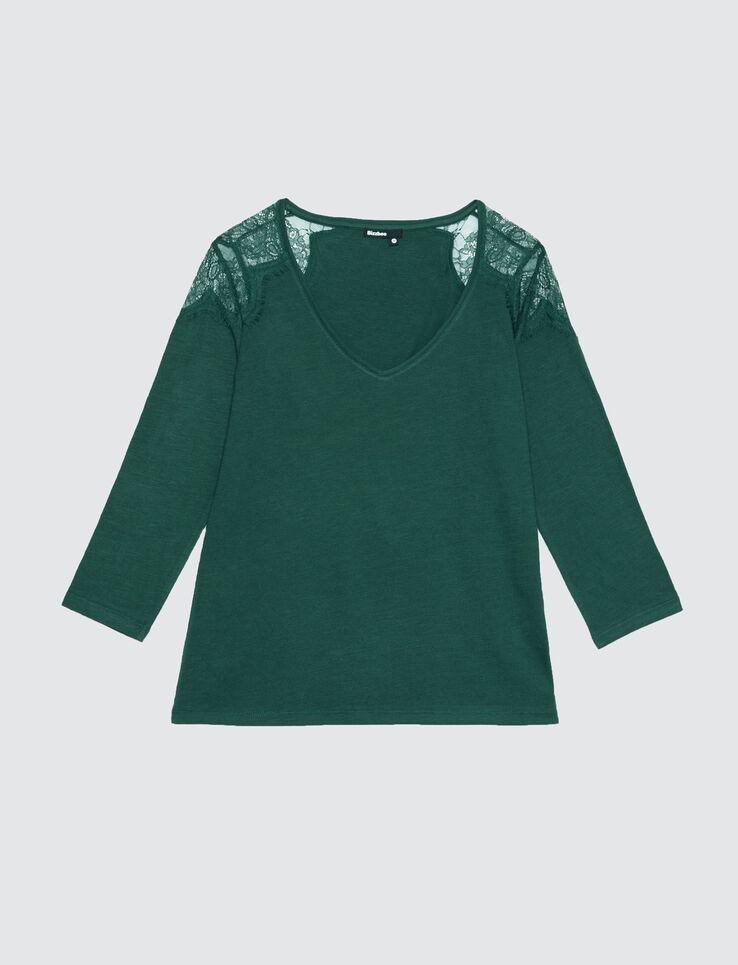 T-shirt vol V empiècement dentelle