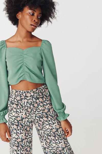 Blouse Cropped Polyester Recyclé