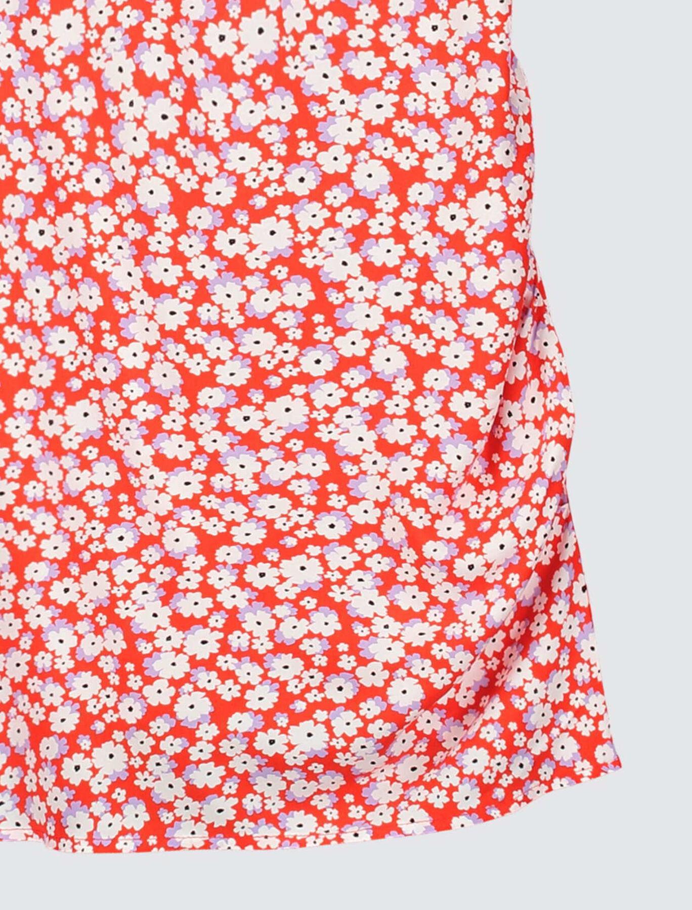 Robe Cache Cœur Imprimée