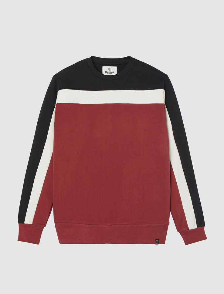 Sweat enfilé colorblock bandes