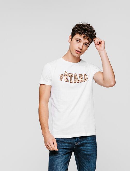 """T-shirt message """"Fêtard"""" homme"""