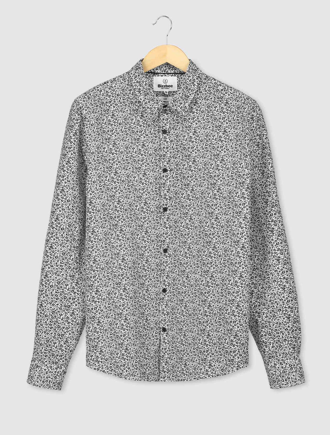 Chemise à fleurs coton/lin