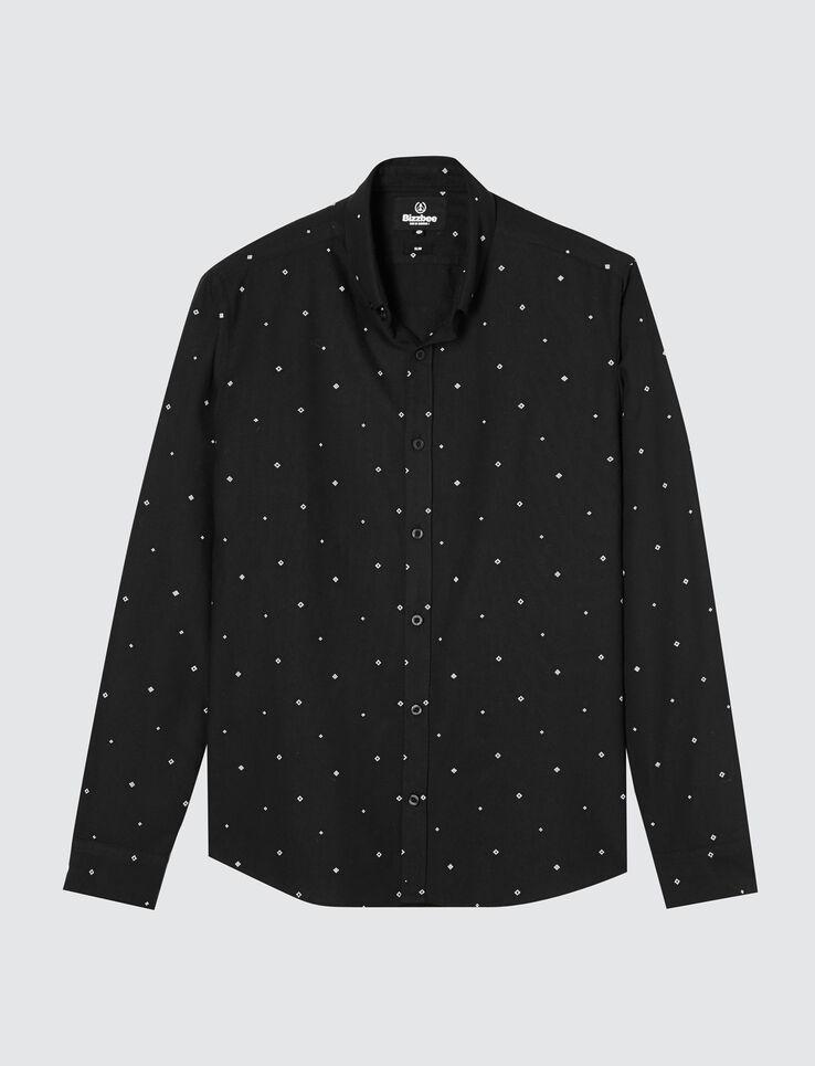 Chemise noir imprimée