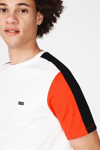 T-shirt manches contrastées