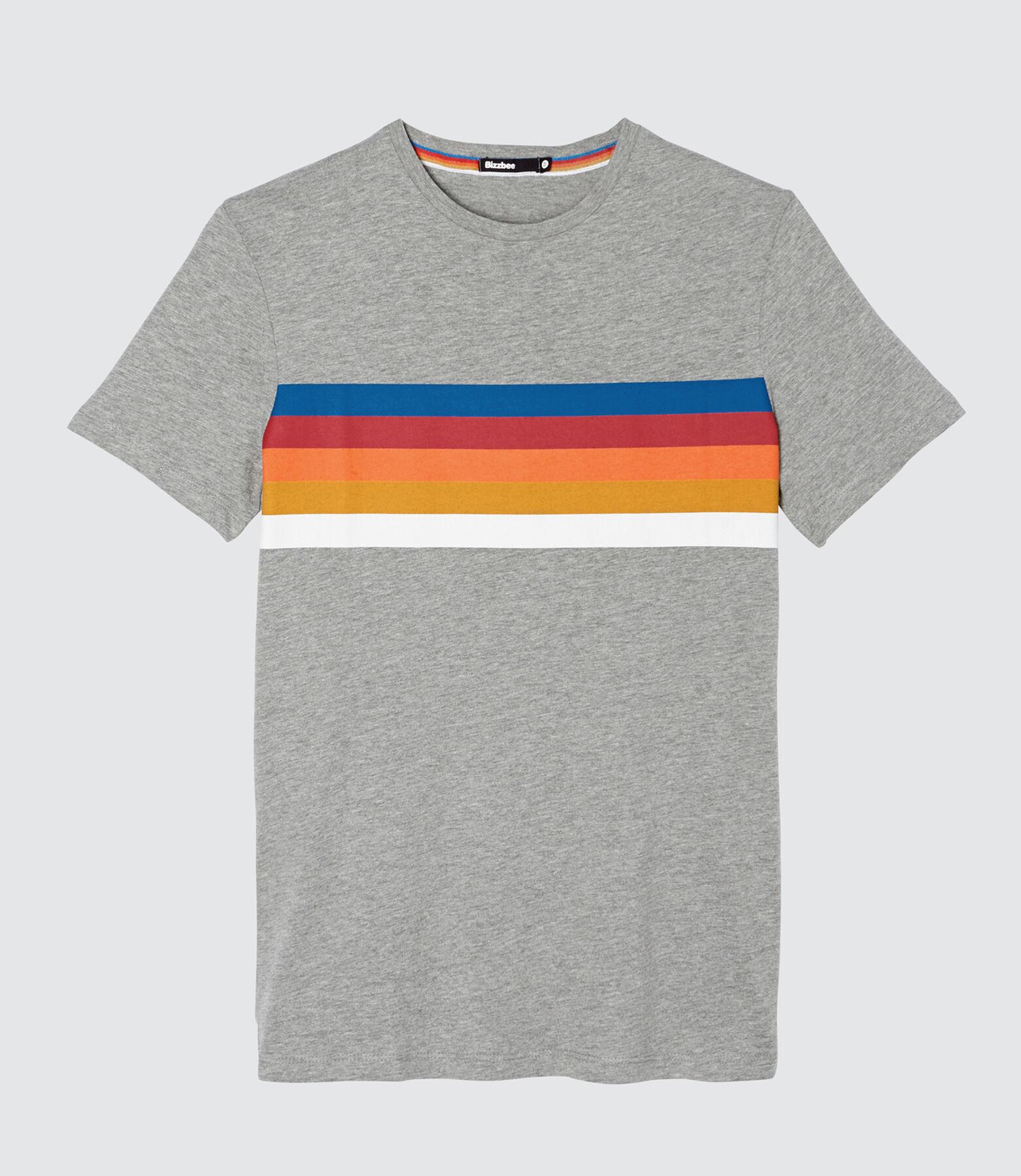T-shirt rayures arc en ciel