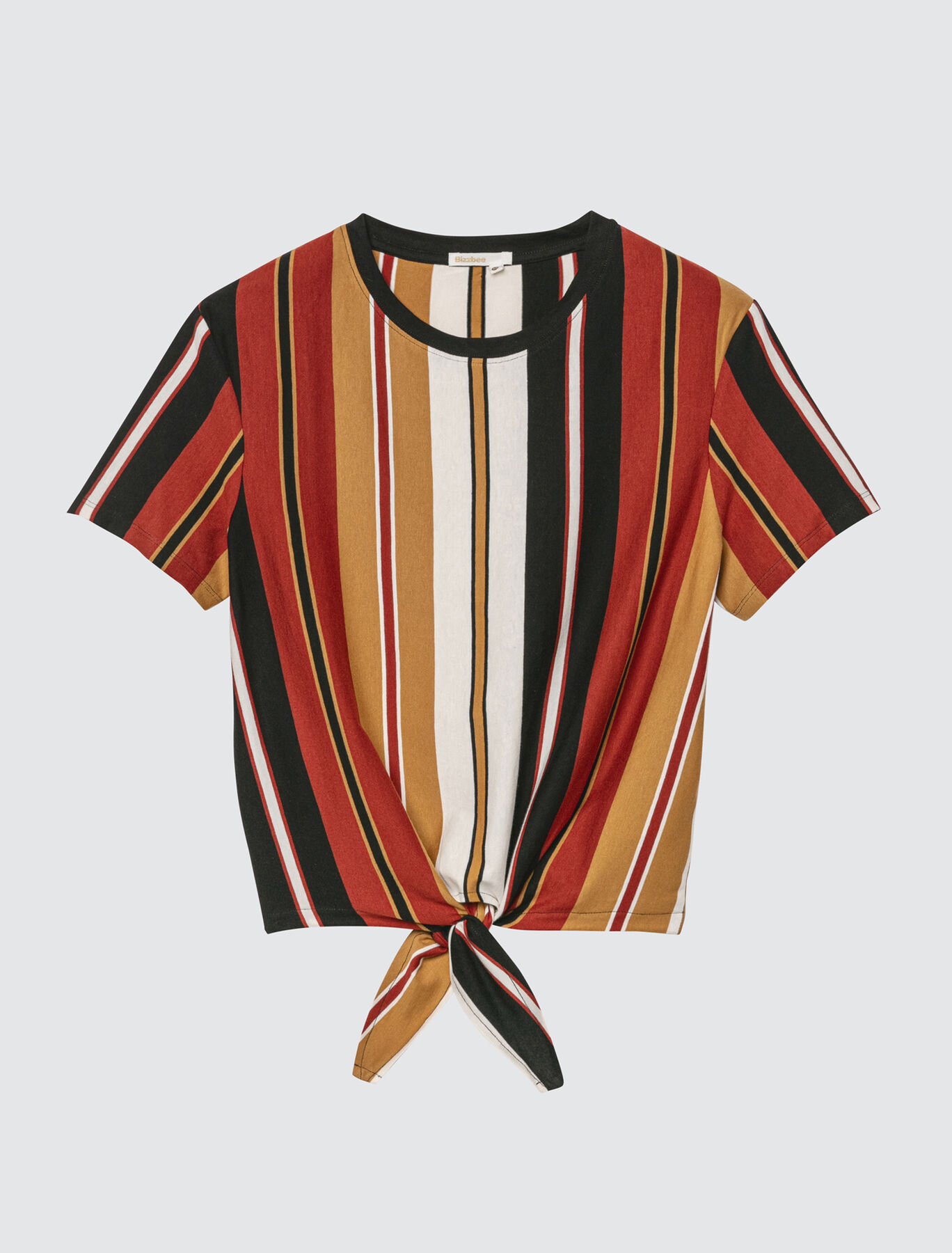 T-shirt rayé noué