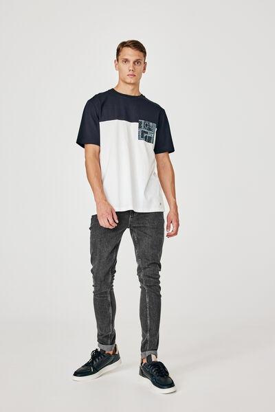 Jean skinny acid black