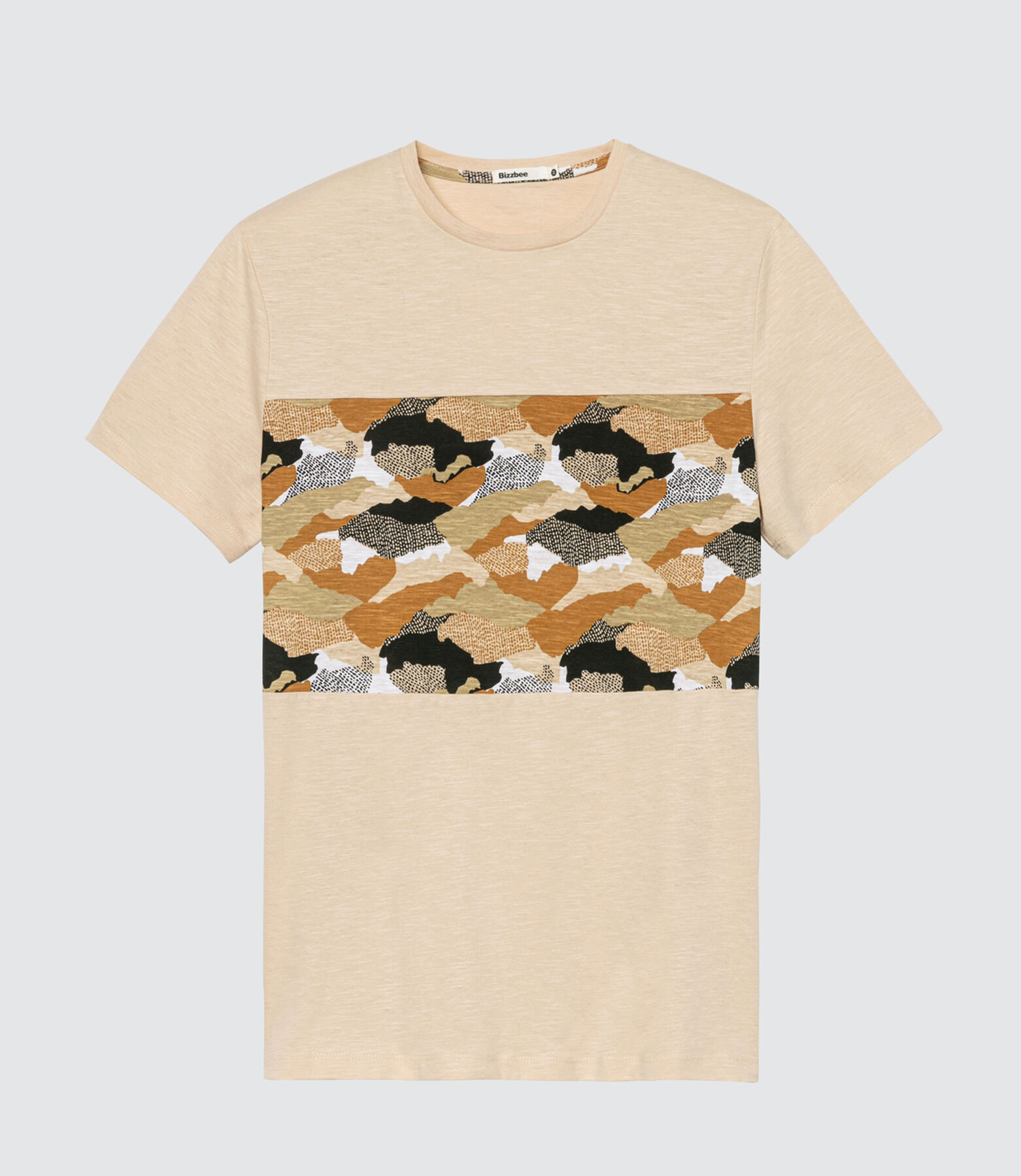 T-shirt imprimé bande camouflage