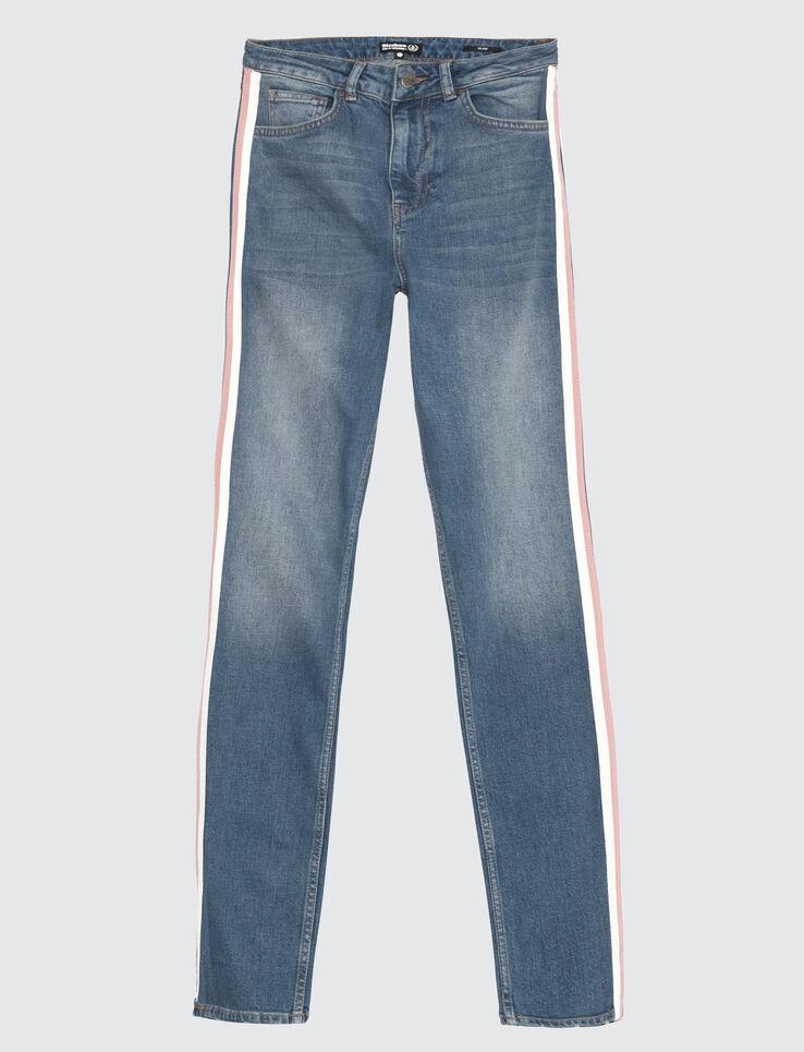 Jean slim bandes côté bicolore
