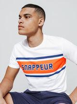 """T-shirt imprimé colorblock """"SNAPPEUR"""""""