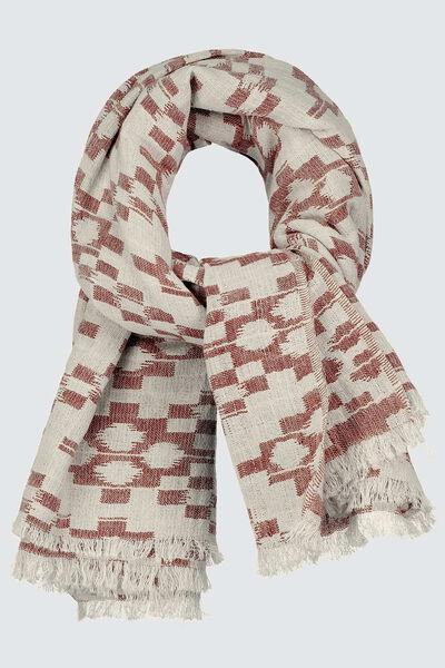 Grand foulard jacquard