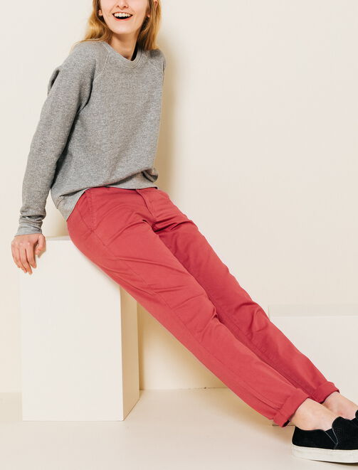 Pantalon chino slack femme