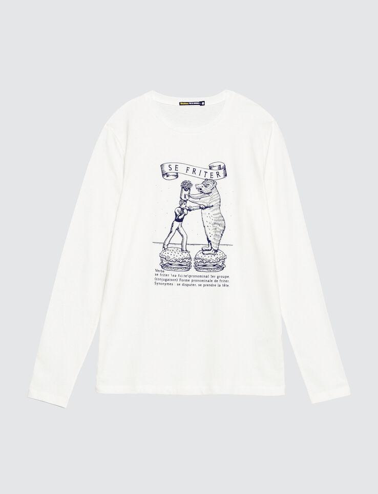T-shirt manches longues print devant