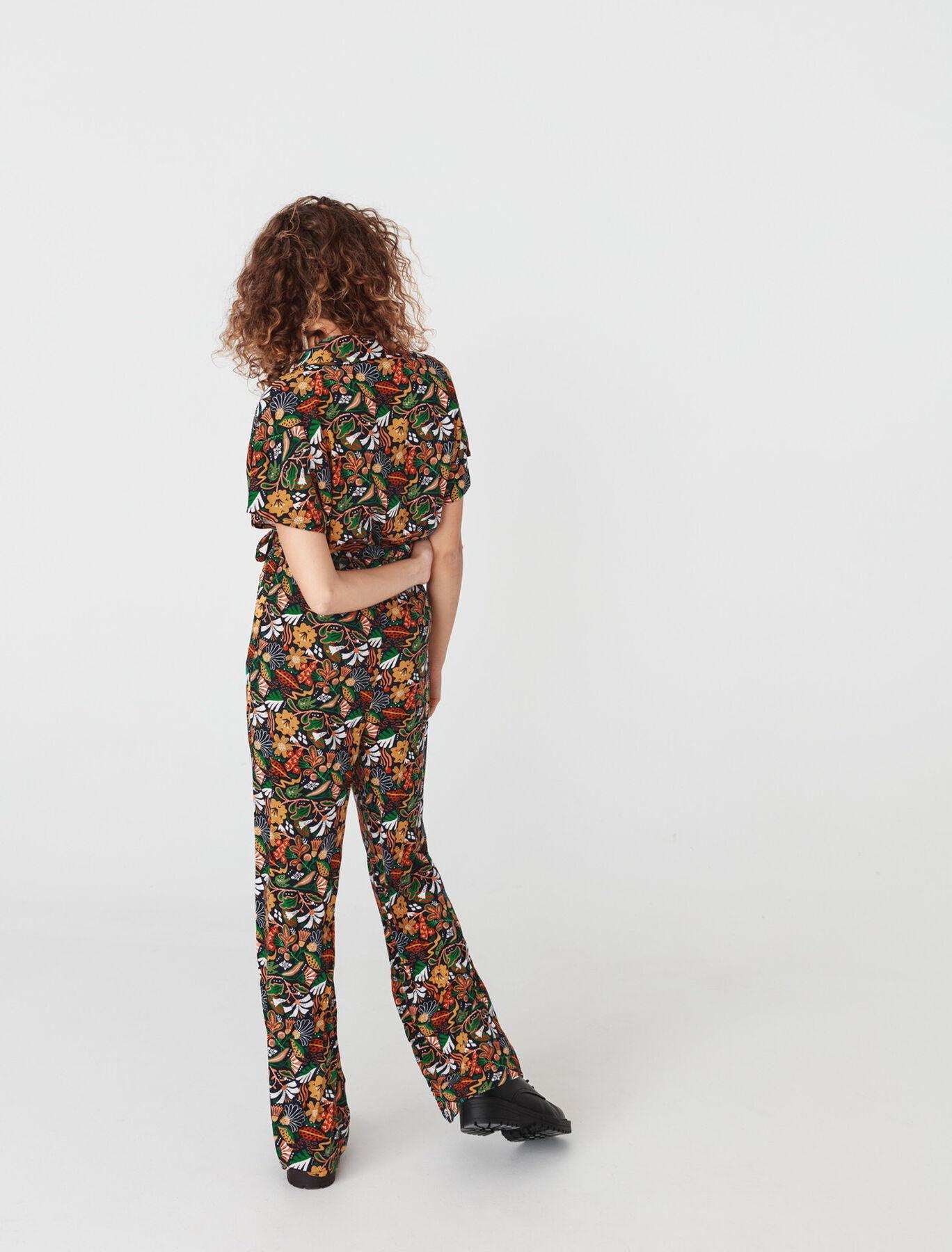 Combi Pantalon Jambes Larges Imprimée